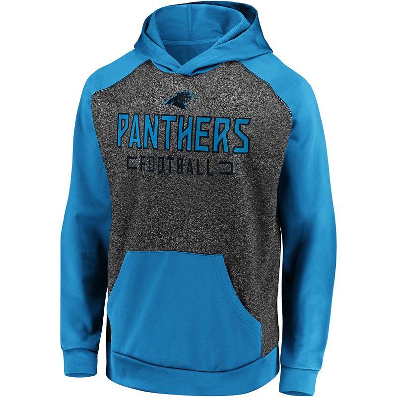 Men's Fanatics Carolina Panthers Chiller Fleece Hoodie. Size: Medium. Grey