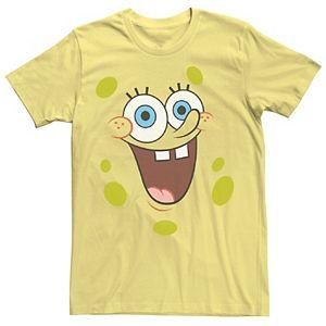 Men's SpongeBob SquarePants Face Portrait Tee