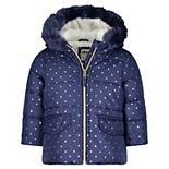 Baby Girl OshKosh B?gosh® Navy Foil Dot Parka Jacket