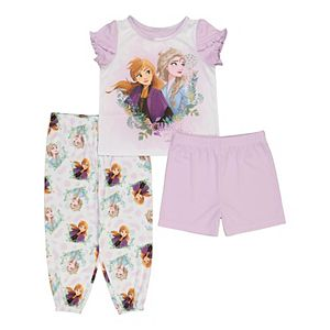 Disney's Frozen 2 Toddler Girl 3 Piece Elsa & Anna Sisters Forever Pajama Set
