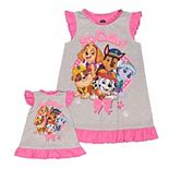 Toddler Girl PAW Patrol So Cute Puppies Nightgown & Doll Gown