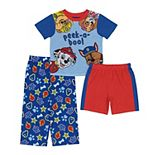 Toddler Boy Paw Patrol 3 Piece Peek A Boo Pajama Set