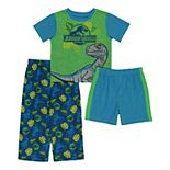 Toddler Boy Jurassic World 3 Piece Dino Jungle Pajama Set