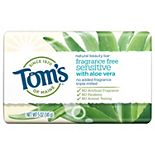 Tom's of Maine Natural Beauty Bar Soap with Aloe Vera - Fragrance Free