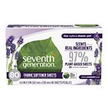 Seventh Generation Fabric Softener Sheets Fresh Lavender - 80 Count