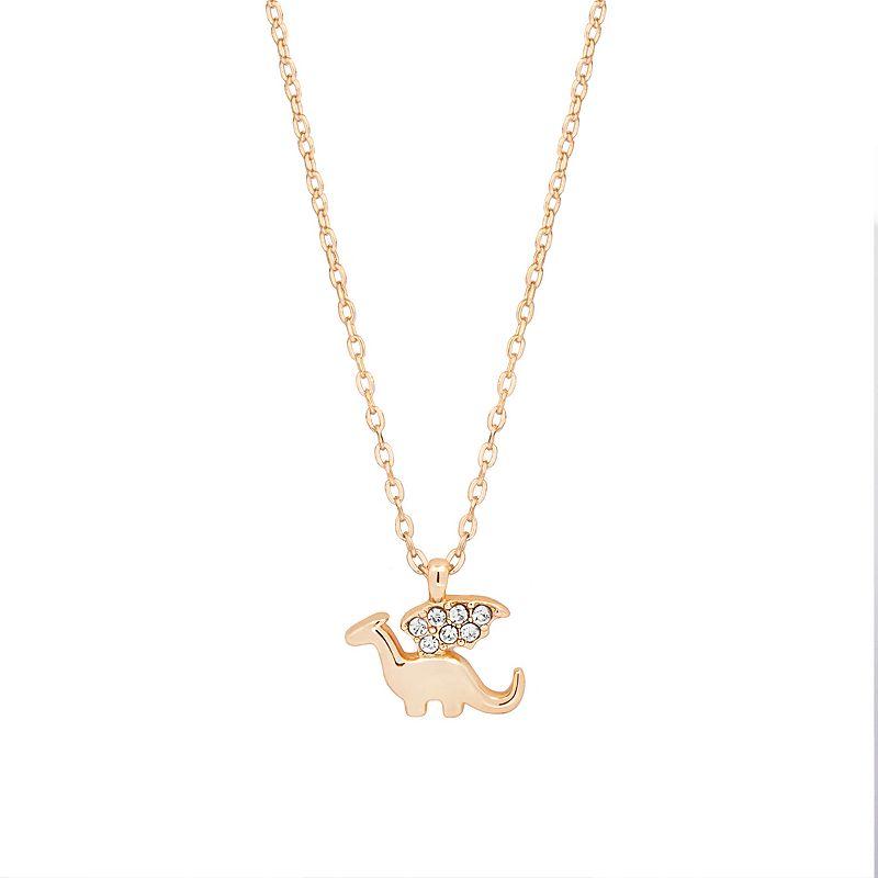 LC Lauren Conrad Gold Tone Dragon Charm Pendant Necklace, Women's