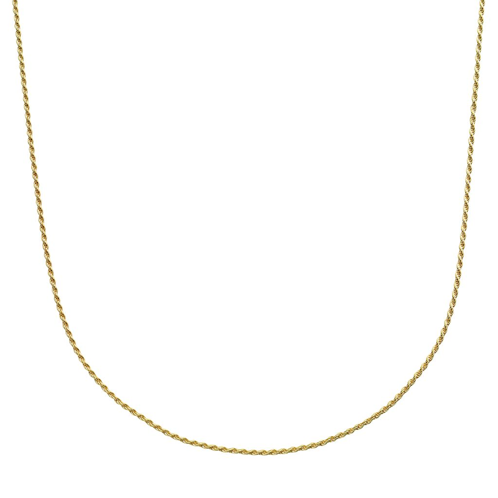 24k Gold-Over-Silver Rope Chain Necklace
