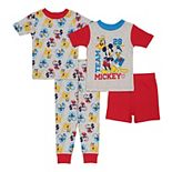 Disney's Mickey Mouse Toddler Boy 4 Piece Pajama Set