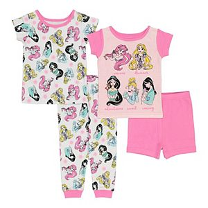 Disney Princess Baby Girl 4 Piece Pajama Set