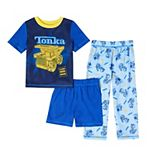 Toddler Boy Tonka 3 Piece Pajama Set