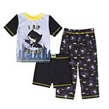 Toddler Boy DC Comics Batman 3 Piece Pajama Set