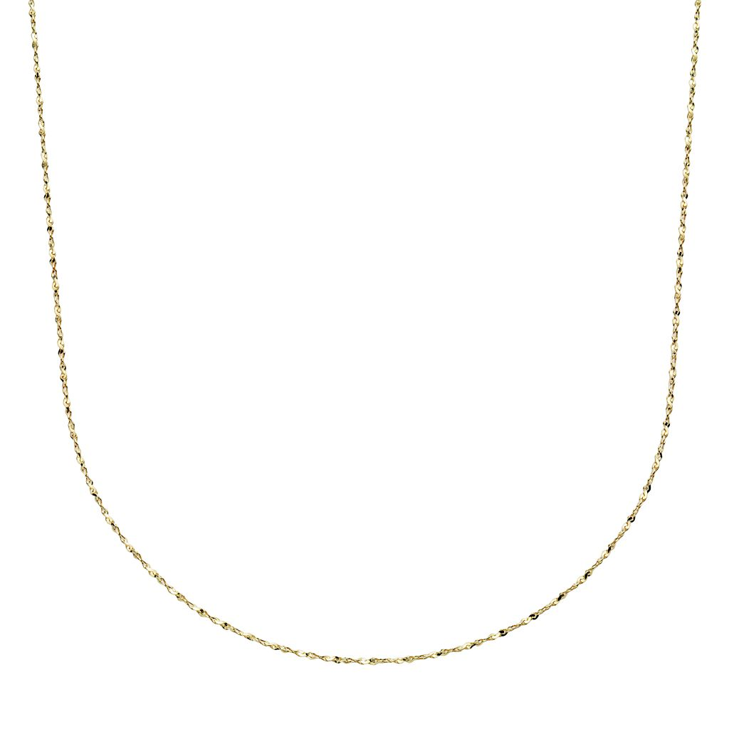 24k Gold-Over-Silver Serpentine Chain Necklace