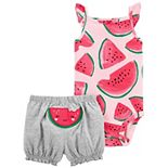 Baby Girl Carter's Watermelon Bodysuit & Shorts Set