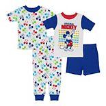 Disney's Mickey Mouse Toddler Boy 4 Piece Pajama Set