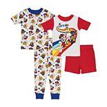 Toddler Boy PAW Patrol 4 Piece Let's Roll Pajama Set
