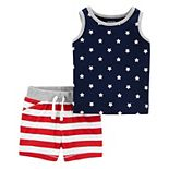 Baby Carter's Patriotic Tank Top & Shorts Set