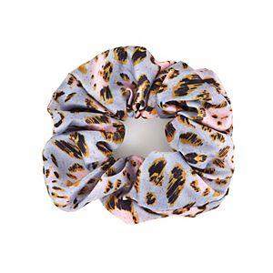 Oversized Satin Leopard Scrunchie