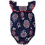 Baby Girl Carter's 4th Of July Floral Bodysuit
