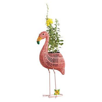 Celebrate Spring Together Flamingo Planter Floor Decor