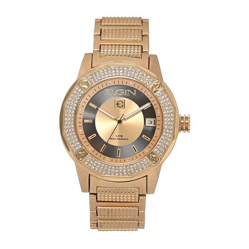Elgin Men's Crystal Watch, Size: XL, Gold -  FG160032GKL