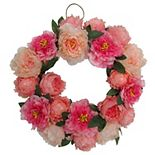 Sonoma Goods For Life® Artificial Peony Wreath Wall Decor