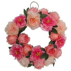 Sonoma Goods For Life Artificial Peony Wreath Wall Decor