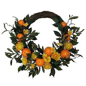 Sonoma Goods For Life Artificial Clementine Wreath Wall Decor