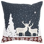 Rizzy Home Winterscape Throw Pillow