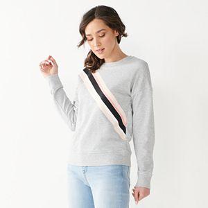 Women's Nine West Diagonal Stripe Sweatshirt