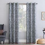 No. 918 Kenji Medallion Draft Shield Fleece Insulated Room Darkening Grommet Window Curtain