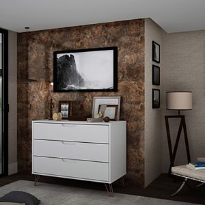 Manhattan Comfort Rockefeller 3-Drawer Dresser