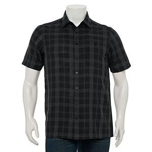Big & Tall Haggar Classic-Fit Microfiber Button-Down Shirt