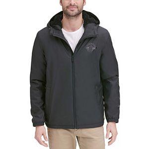 Men's Dockers® Sherpa-Lined Hooded Rain Slicker Jacket