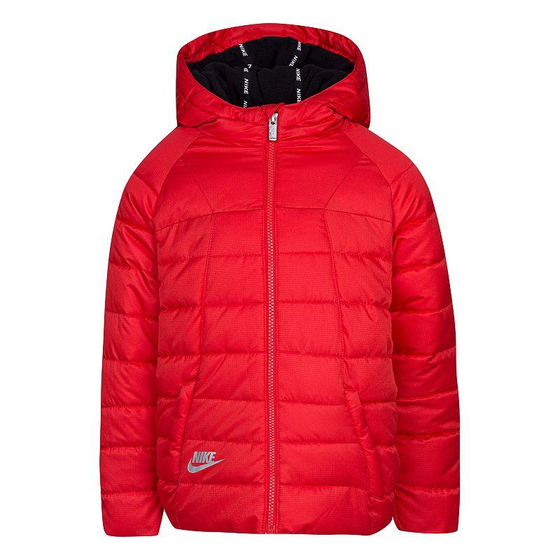 Boys 4-7 Nike Puffer Jacket, Boy's, Size: 6, Brt Red