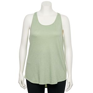 Juniors' Plus Size SO Racerback Tank Top