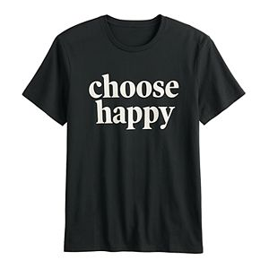 "Men's Family Fun? ""Choose Happy"" Graphic Tee"