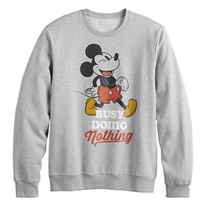 """Disney's Mickey Mouse Men's """"Doing Nothing"""" Graphic Sweatshirt by Family Fun?"""