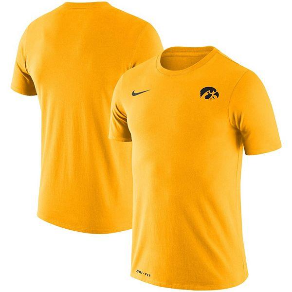 Men's Nike Gold Iowa Hawkeyes Team Logo Legend Performance T-Shirt