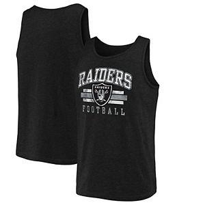 Men's NFL Pro Line by Fanatics Branded Black Las Vegas Raiders Distressed Logo Tank Top