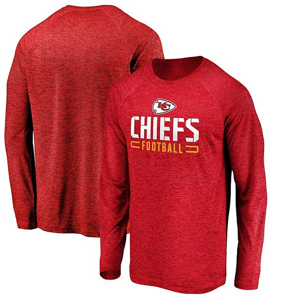Men's NFL Pro Line by Fanatics Branded Red Kansas City Chiefs Engage Stack Long Sleeve T-Shirt