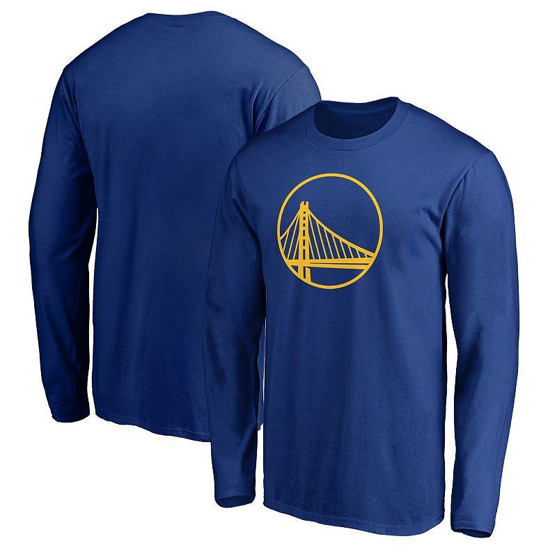 Men's Fanatics Branded Royal Golden State Warriors Team Primary Logo Long Sleeve T-Shirt, Size: 2XL, Blue