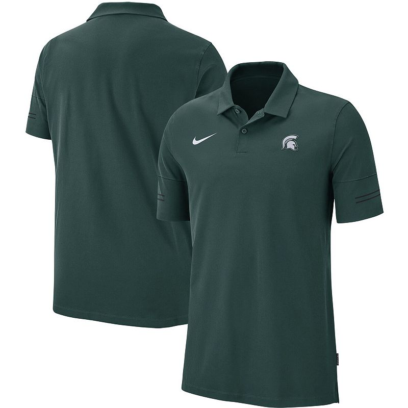 Men's Nike Green Michigan State Spartans Sideline Coaches Polo, Size: Small