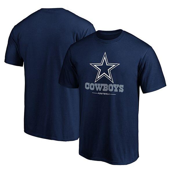 Men's NFL Pro Line by Fanatics Branded Navy Dallas Cowboys Team Lockup Logo T-Shirt