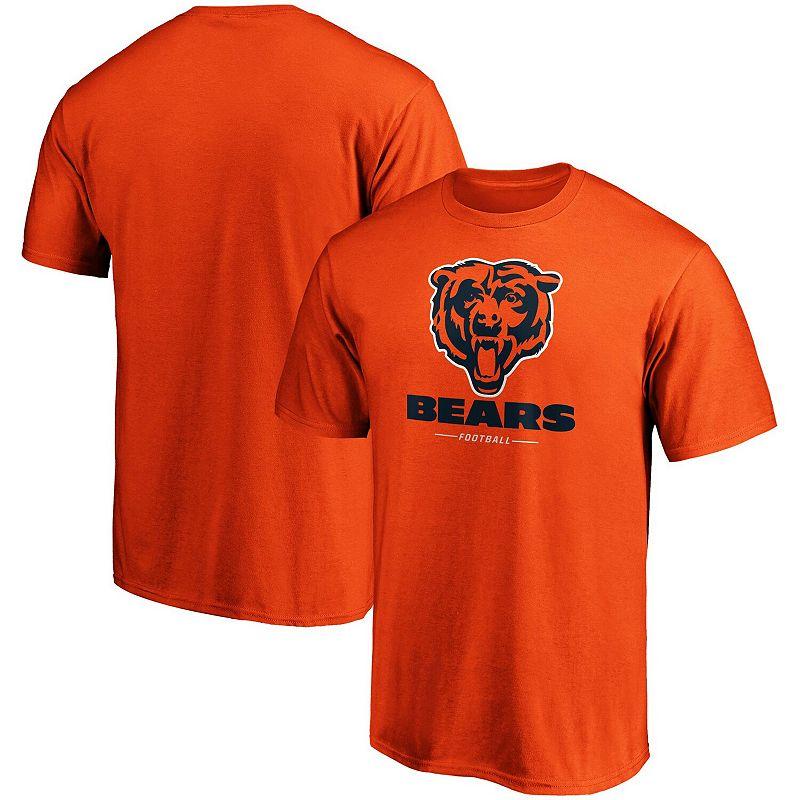 Men's Fanatics Branded Orange Chicago Bears Team Lockup Logo T-Shirt, Size: 4XL