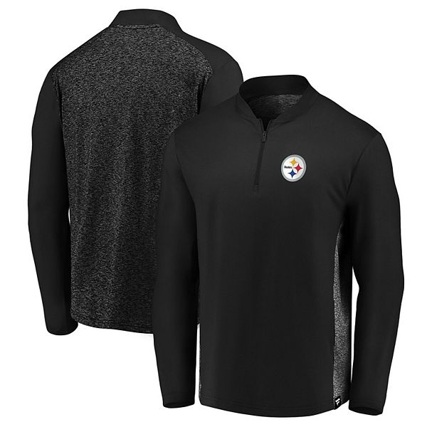 Men's NFL Pro Line by Fanatics Branded Black Pittsburgh Steelers Iconic Clutch Modern Quarter-Zip Jacket