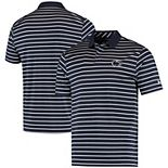 Men's Under Armour Navy Penn State Nittany Lions Wordmark Stripe Performance Polo