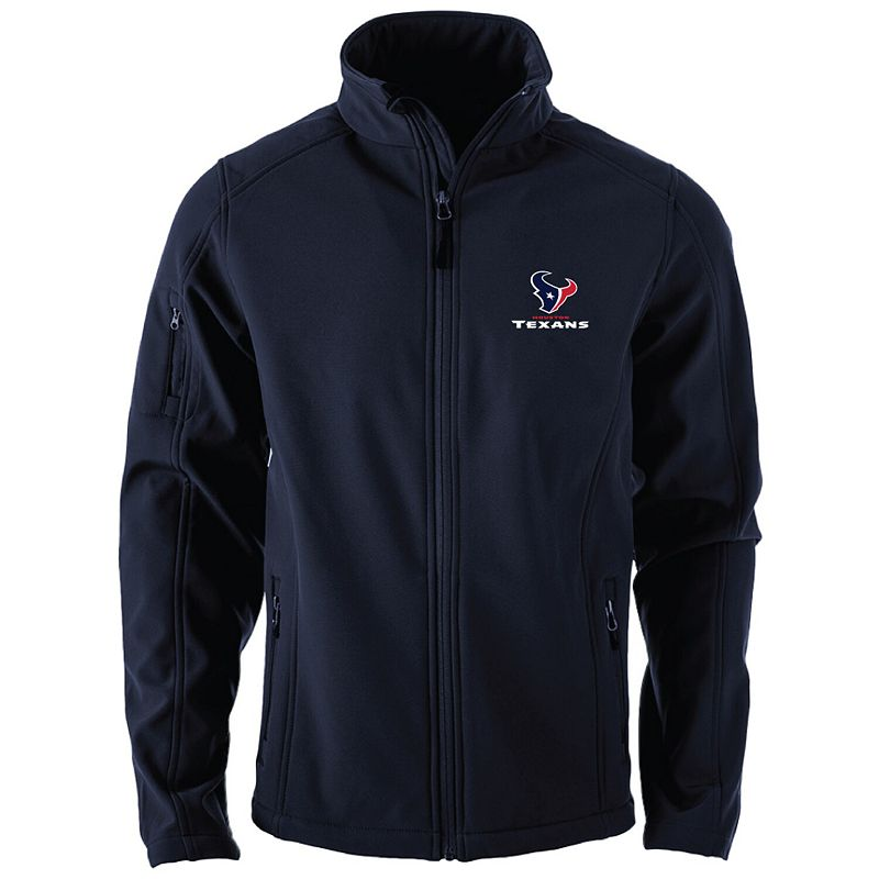 Men's Navy Houston Texans Sonoma Softshell Full-Zip Jacket, Size: Small, Blue