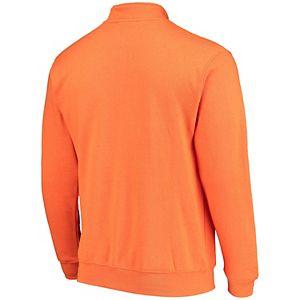 Men's Colosseum Orange Virginia Tech Hokies Tortugas Logo Quarter-Zip Jacket