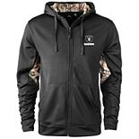 Men's Black/Realtree Camo Las Vegas Raiders Decoy Tech Fleece Full-Zip Jacket