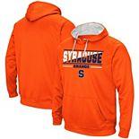 Men's Colosseum Orange Syracuse Orange Dean Slash Stack Pullover Hoodie